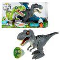 """Zuru RoboAlive T19290 Игровой набор """"Робо-Тираннозавр"""" серый (+слайм в наборе)"""
