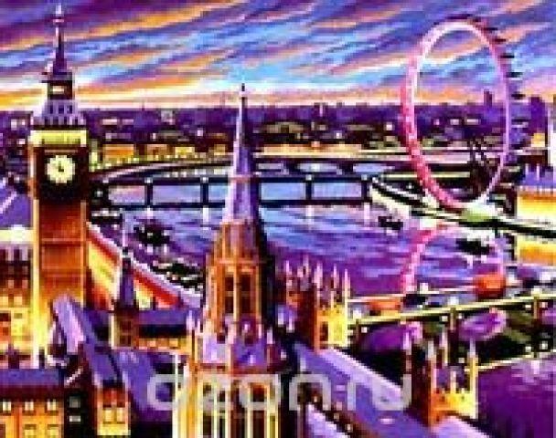 """Набор для раскрашивания акриловыми красками """"Лондон"""""""