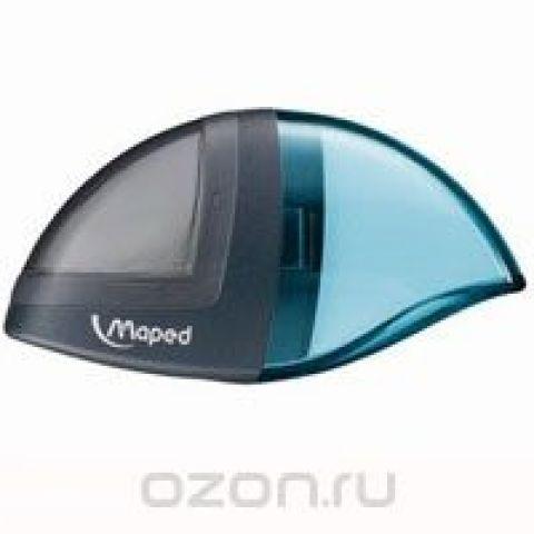 """Точилка с ластиком Maped """"Moondo"""", цвет: серый, голубой"""