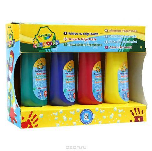 """Набор красок для рисования пальцами """"Crayola Mini Kids"""", 4 цвета"""
