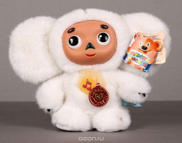 """Мягкая говорящая игрушка """"Чебурашка"""", цвет: белый, 17 см"""