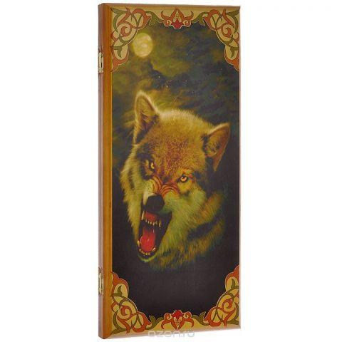 """Игровой набор 2в1 Perfecto """"Волк"""": нарды, шашки, размер: 50х25х4 см. 085м"""