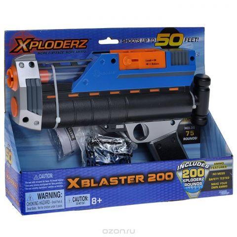 """Бластер  XPloderz """"X 200"""", с пульками, цвет: черный, синий, оранжевый, серебристый"""