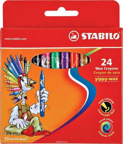 "Восковые мелки Stabilo ""Yippy-wax"", 24 цвета"