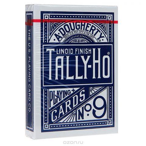 """Карты игральные Bicycle """"Talli-Ho №9"""", цвет: синий, 54 карты. 9104с"""