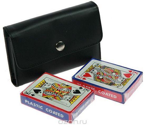 """Подарочный игровой набор Русские Подарки """"Покер"""", размер: 12*10*3 см. 42555"""