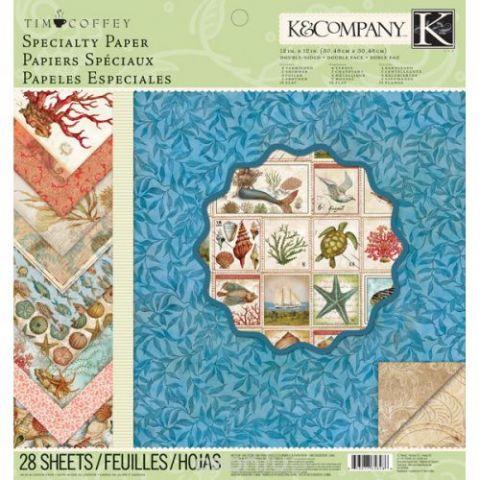 """Набор бумаги для скрапбукинга K&Company """"Путешествие"""", 31 см х 31 см, 28 листов"""