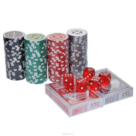 """Набор для покера """"Poker Set"""", размер: 20x20x8 см. ГД5/100к"""
