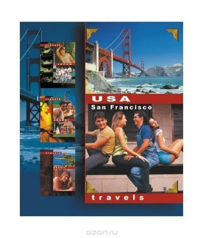 "Тетрадь ACTION! накольцах""Travels.USA.SanFrancisco"""