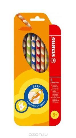 """Набор цветных карандашей """"Stabilo Easycolors"""" для левшей, 6 цветов"""
