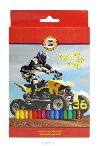 """Цветные карандаши """"Спорт"""", 36 цветов"""
