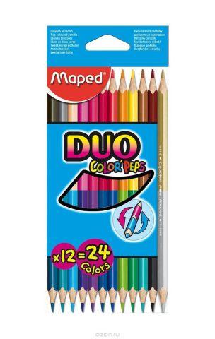 """Карандаши цветные двухсторонние Maped """"Color' Peps Duo"""", 12 карандашей, 24 цвета"""
