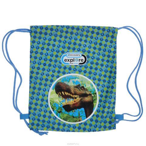 Action! Сумка для сменной обуви Discovery Динозавр цвет голубой салатовый