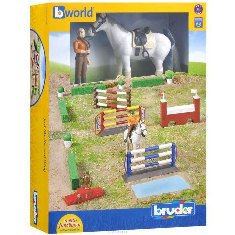 Bruder Большой набор для скачек с всадницей и лошадью