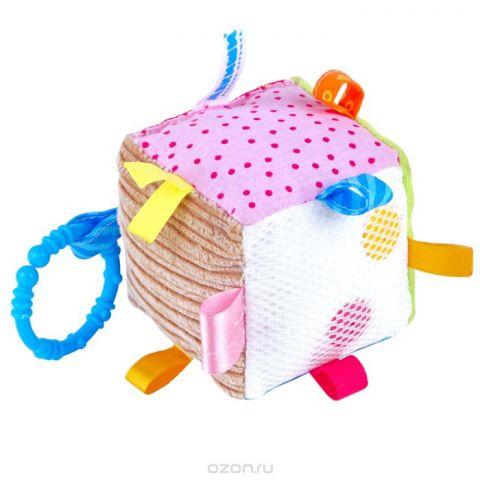 """Развивающая игрушка Мякиши """"Кубик с петельками"""", в ассортименте"""