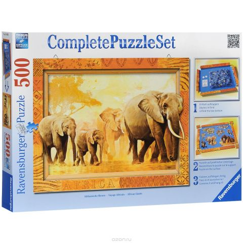 Ravensburger Слоны. Пазл, 500 элементов