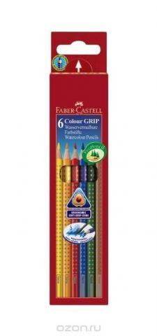 Цветные карандаши GRIP 2001, набор цветов, в картонной коробке, 6 шт.