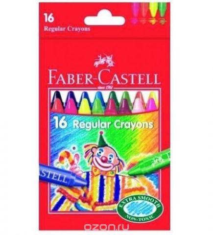 Восковые карандаши КЛОУН, набор цветов, в картонной коробке, 16 шт.