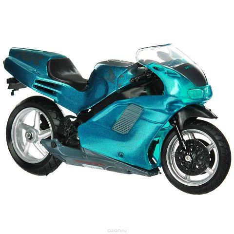 """Autotime Коллекционная модель мотоцикла """"Honda NR"""", цвет: темно-бирюзовый. Масштаб 1/18"""
