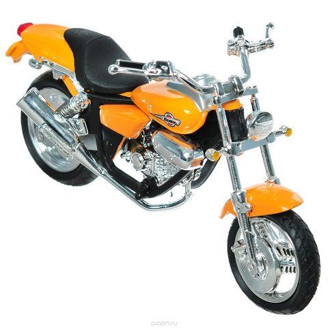 """Autotime Коллекционная модель мотоцикла """"Honda Magna"""", цвет: оранжевый. Масштаб 1/18"""