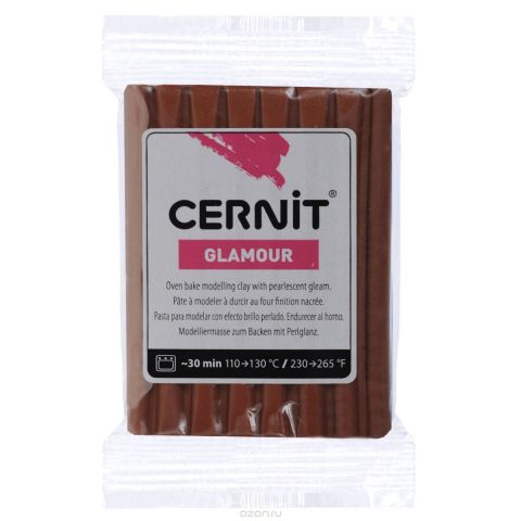 "Пластика Cernit ""Glamour"", перламутровая, цвет: медный, 56-62 г"