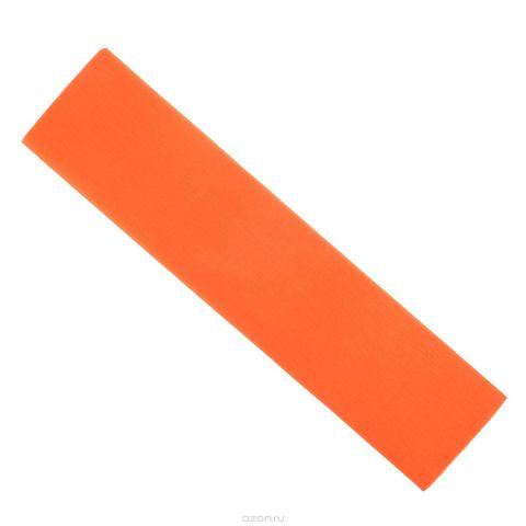 "Крепированная бумага ""Hatber"", флюоресцентная, цвет: оранжевый, 5 см х 25 см"