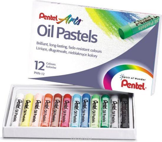 """Пастель масляная Pentel """"Oil Pastels"""", 12 цветов"""