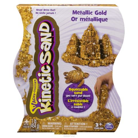 Kinetic Sand Песок для лепки Metallic Gold 454 г 0023