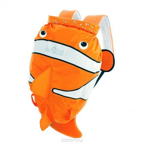 """Детский рюкзак для бассейна и пляжа Trunki """"Рыба-клоун"""", цвет: оранжевый, белый, 7,5 л"""