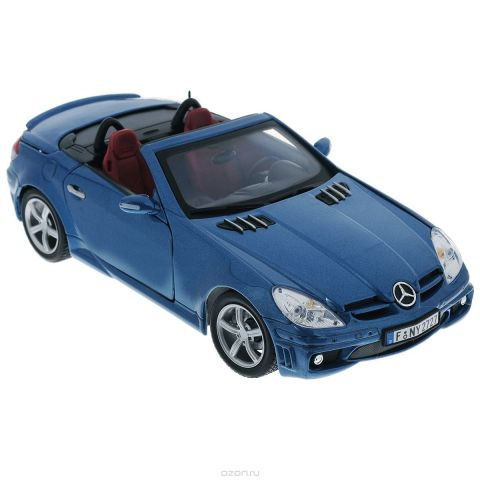 "Autotime Коллекционная модель ""Mercedes Benz SLK55 АMG"", цвет: синий металлик. Масштаб 1/18"