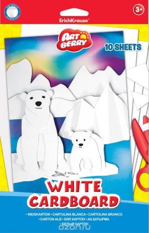 "Набор белого картона Erich Krause ""Artberry"", 10 листов"