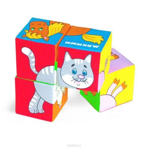 Мякиши Кубики Собери картинку Домашние животные