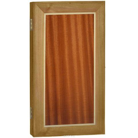 """Нарды малые """"Квадрат"""", цвет: коричневый, размер: 48х28х5 см. 1005"""
