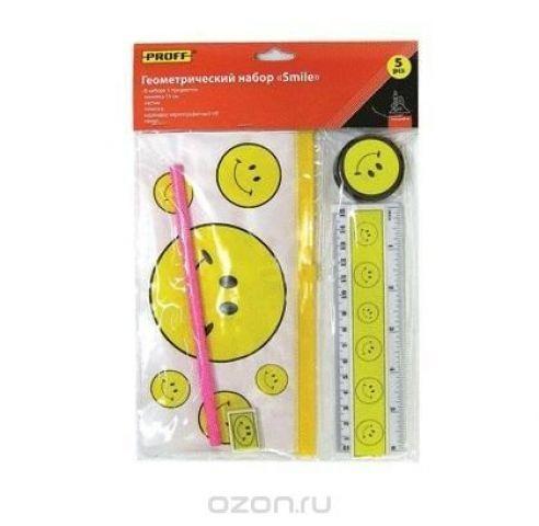 """Набор геометрический детский (5 предметов) """"Proff Smile"""" в индивидуальной упаковке с европодвесом"""