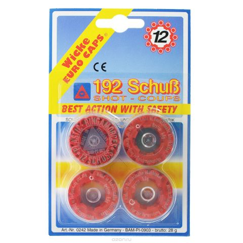 "Пистоны ""Wicke Euro Caps"", 12-зарядные, 192 шт"