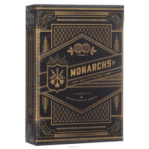 """Игральные карты Theory 11 """"Monarchs"""", цвет: черный, золотой"""