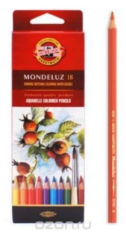Набор карандашей акварельных MONDELUZ, 18 цв