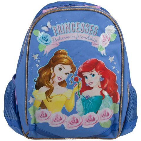 """Рюкзак школьный Disney Princess """"Believe in Friendship"""", цвет: светло-фиолетовый. PRCB-MT1-977"""