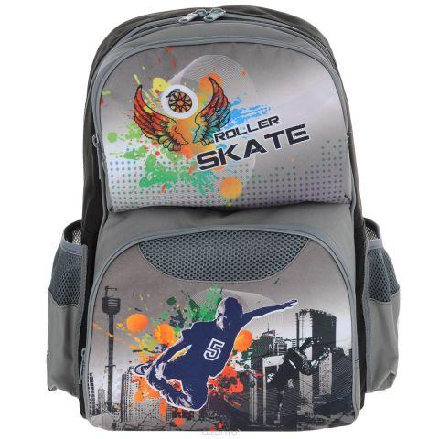 """Ранец школьный Tiger Family """"Roller Skate"""", цвет: серый"""