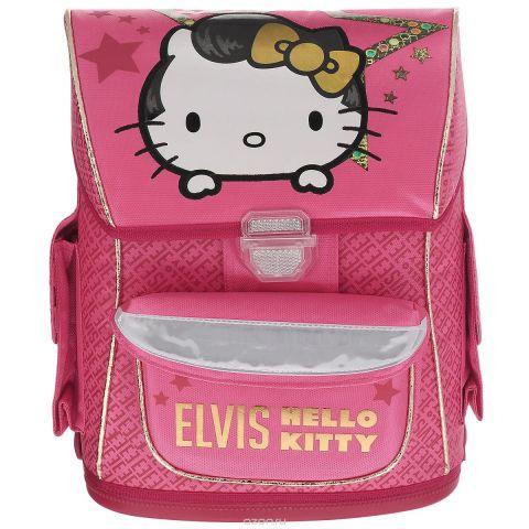 """Ранец школьный """"Hello Kitty. Elvis"""", с наполнением, цвет: розовый, белый"""