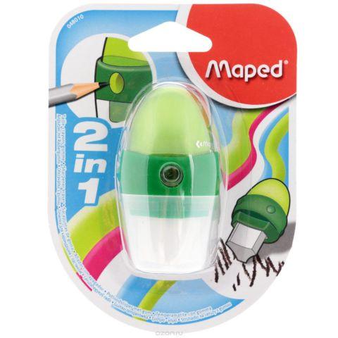 """Точилка Maped """"Astro"""", с ластиком, цвет: зеленый"""