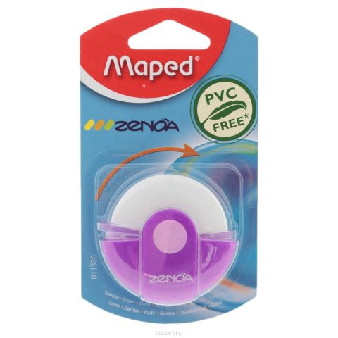 "Ластик Maped ""Zenoa"", цвет: розовый, белый"