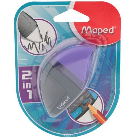 """Точилка Maped """"Moondo"""", с ластиком, цвет: фиолетовый"""