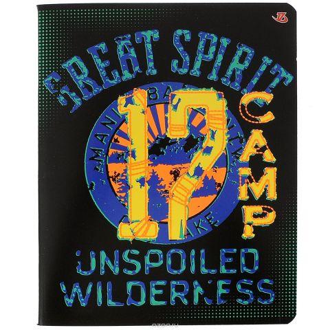 """Тетрадь """"17 Camp"""", цвет: черный, синий, желтый, 60 листов"""