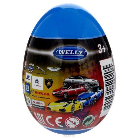 Welly Яйцо-сюрприз с машинкой цвет синий