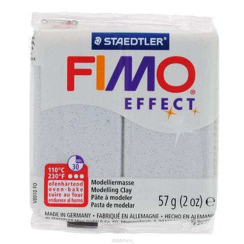 "Полимерная глина Fimo ""Effect Glitter"", цвет: светло-серый, 57 г"
