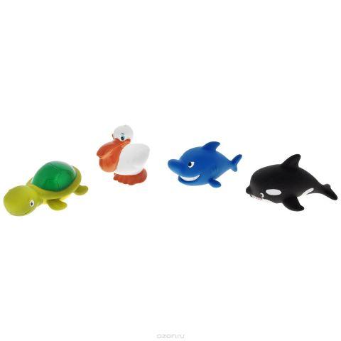 """Игровой набор для ванны Mioshi """"Морские обитатели"""", 4 шт"""