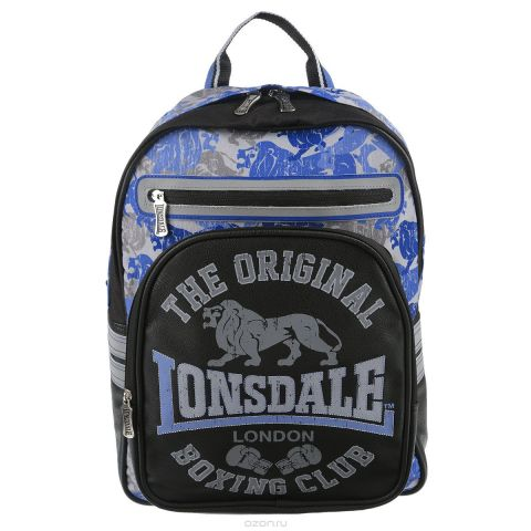 """Рюкзак школьный Kinderline """"Lonsdale"""", цвет: черный, голубой, серый. LSCB-UT1-507"""