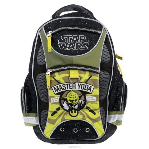 """Рюкзак школьный Star Wars """"Master Yoda"""", цвет: черный, зеленый"""
