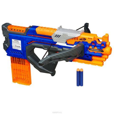 Nerf Бластер КроссБолт цвет оранжевый синий